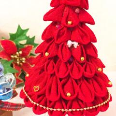 サンドアート/クリスマスツリー/ジェルサンドキャンドル/インテリア/雑貨/玄関/... つまみ細工のクリスマスツリーとジェルサン…