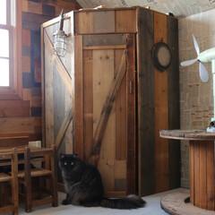 DIY/ジャンク/男前/インテリア/小屋 廃材で作ったジャンク小屋。  4年前に築…