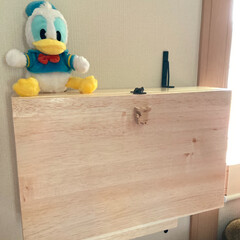 テーブルになるBOX/ベッド横の作業台/雑貨/DIY/わたしの作業部屋 こんばんわヽ(´▽`)/  注文してたB…