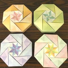 折り紙 折り紙で八角形の箱作ってみました😊