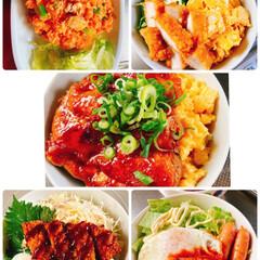 チワワ/空🐶/ロコモコ/ソースカツ丼/鷄の照り焼き丼/チキン南蛮丼/... こんにちわ〜❗️ 今日もスッキリしない天…