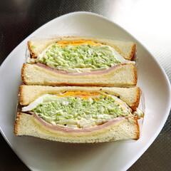 サンドイッチ/おうちごはん おはようございます☀ 作りました〜❣️ …