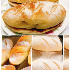 コメダ珈琲/あんバターパン/おうちごはん 今日はソフトフランスパン焼いて🥖 アンバ…