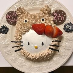 手作りお菓子/誕生日ケーキ/フォロー大歓迎/スイーツ 娘作✌️ 18日お孫ちゃんの誕生日でした…