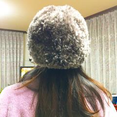 ダイソー/手編み/簡単/手作り/ハンドメイド/編み物/... ダイソーの毛糸で簡単な帽子を作りました。…