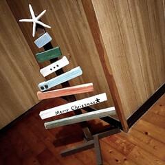 男前雑貨/ツリー/ウッドツリー/フォロー大歓迎/クリスマス/クリスマスツリー/... 廃材でウッドツリー🎄DIY👩🏻🔧