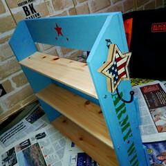 シェルフ/ホームメイド/DIY女子/DIY/ディスプレイ棚/スパイスラック/... もう一個。 🇺🇸アメリカン軍隊風棚🔨