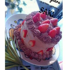 手作りケーキ/いつもいいね有難うございます♡/15歳/12cm/ホームメイド/チョコレートケーキ/... 長女15歳ΒiятнDач ♡ リクエス…
