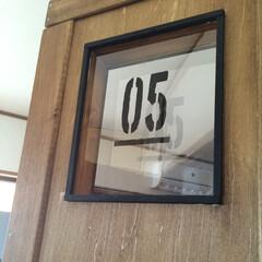 黒×茶/ドアDIY/ステンシル/ワトコオイル/ダークウォルナット DIYしたドアも黒×茶です( ˊᵕˋ* …