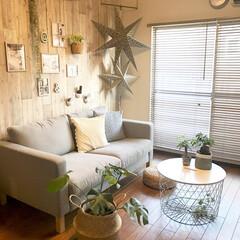 ニトリ/IKEA/夏コーディネイト/リビング/賃貸/DIY/... ガラッと模様替えをするのも大変なので、我…