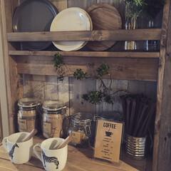 「カフェスペース兼食器棚をDIYしました。…」(1枚目)