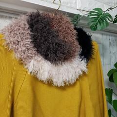 かぎ針編み/ハンドメイド/ファッション/クリスマスプレゼント/ジャンボ針/スヌード/... パンドラハウスで購入したコンビネーション…