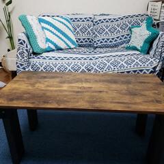 アイアンペイント/男前/テーブル/2×4/コーナン/イージーシェルフ/... コーナン新商品の2×4で簡単にテーブルが…