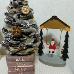 クリスマスツリー/松ぼっくり/セリアリメイク/ドライ/スノースプレー 産直で3個100円の激安で大きなまつぼっ…