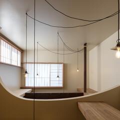 吹抜/リノベーション/木造/一戸建て/ペンダント照明/照明/... 築60年、木造2階建てのリノベーション
