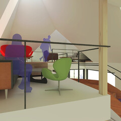 カフェ/カフェデザイン/カフェスペース/Cafe/CG/インテリア/... cafeの提案です。 「大きな公園の脇に…