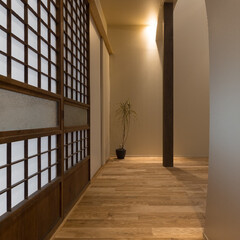 リノベーション/廊下/障子/照明/木造/一戸建て/... 築60年、木造2階建てのリノベーション