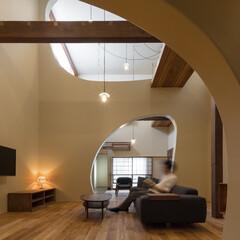 リノベーション/リビング/ソファ/木造/一戸建て/吹抜/... 築60年、木造2階建てのリノベーション