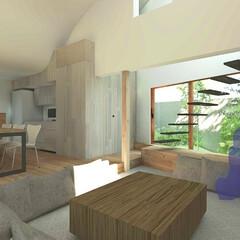不動産・住宅/住まい/家/木造/ハウス/2階建て/... LDK ピットリビングの提案  リビング…