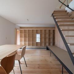 ダイニング/リビング/木造/一戸建て/階段/ローコスト/... シンプルな矩形を活かしたローコスト住宅