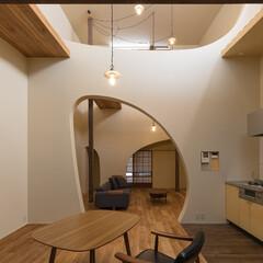 リノベーション/木造/一戸建て/ダイニング/吹抜/不動産・住宅/... 築60年、木造2階建てのリノベーション