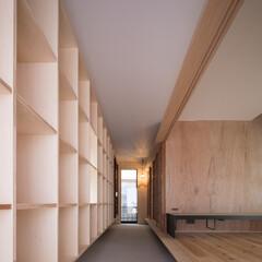 木造/一戸建て/玄関/土間/通り土間/収納/... シンプルな矩形を活かしたローコスト住宅