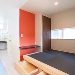 和室スペース リビングに和室スペースを設けました。 和…