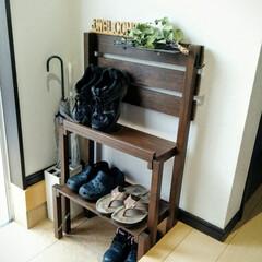 靴棚/DIY 奥行25㎝に、6足収納できる靴棚をDIY…