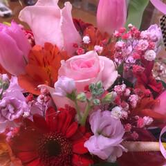 成人式 娘の成人式で私の友達からお花をいただきま…