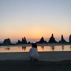 朝日/海 夜中に出発して早起きしてみた朝日。 だん…