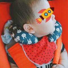 赤ちゃん/ベビー用品/ミシン/枕/チャイルドシート用枕/ダブルガーゼ/... 腰もだいぶ座り、チャイルドシートを第2段…