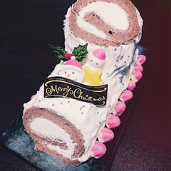 クリスマスケーキ/お菓子/ケーキ/クリスマス/フード/ハンドメイド/... 去年のクリスマスに作ったブッシュ・ド・ノ…