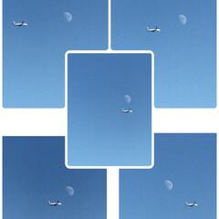 飛行機/空/月 🌈🌴🦚🌺🍂🍁🌾🍄こんばんは(*^▽^*)…