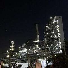 川崎製油所/ライトアップ/風景 🌈🌴🌺🦚🍂🍁🌾🍄  🏭工場 ☆川崎製油所…