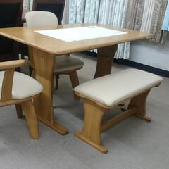 ひらた家具店/平田家具店/家具/テーブル/ベンチ/食卓セット/... テーブルの天板のサイズを変えられるタイプ…