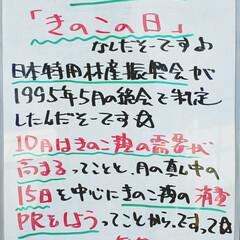 きのこの日/きのこ/今日は何の日/A型看板/ホワイトボード/平田家具店/... おはようございます! 本日のホワイトボー…