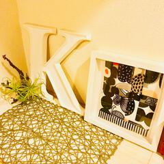 グリーン/インテリア/イケア/玄関/ハンドメイド/IKEA/... マリメッコのハギレがやっと形になりました…