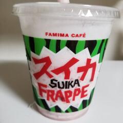 スイカのフラッペ/ファミリーマート スイカ🍉美味しい😋💕 ウララさんとusa…