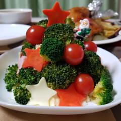 和風グラタン/ローストチキン?/ブロッコリーツリー/クリスマスイブ/おうちごはん/フード/... Merry Christmas☃️🎄❄️…