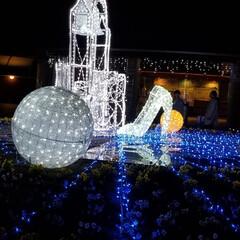 クリスマス/イルミネーション/あすたむらんど/おでかけ/なぜかファイヤーダンス? 昨日は昼間は100人サンタ🎅さん🎵 夜は…