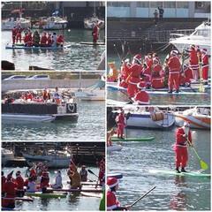 Merry Christmas/徳島のサンタクロースは川からやって来る❗/サンタクロース/クリスマス 今年もサンタクロースの団体さん遭遇🎅💕 …