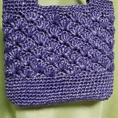 松葉編み/すずらんテープ/ハンドメイド ウララさんの真似っ子😆💓 松葉編みのバッ…