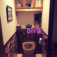 トイレ/タンクレストイレ/DIY ちと雑感が出てるけどw 気にしないでね(…
