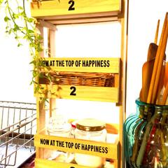 ボックス/簡単D I Y/すのこ/キッチン雑貨/グリーン/DIY/... 2のボックスは1に比べててやや小さめのた…