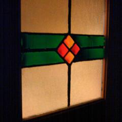 リメイク/窓/ステンドグラス風/アクリル絵の具/リフォーム/DIY/... 洗面所のドアをノスタルジックに。ダイソー…