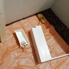 防水パンカバー/洗濯パンカバー/防水パンカバーDIY/防水パン/洗濯機パン/掃除/... 洗濯機パンカバーを作りました。 埃が溜ま…(7枚目)