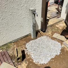 立水栓/ヤード/ベランダ/DIY/レトロ/男前/... 【浸透マス風排水】 ※ヤードの立水栓排水(9枚目)