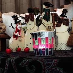 雪だるま/サロン/クリスマスバージョン 雪だるまさん、今年もよろしく。