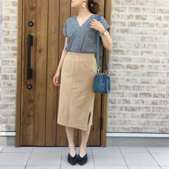 ママコーデ/ギンガムチェック/タイトスカート/ファッション LIPSTAR  さんのギンガムチェック…