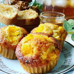 作り置きお菓子/カップケーキ/手作りお菓子/おやつ/ラク家事 オレンジとチョコチップのカップケーキ 🍊🍫(3枚目)